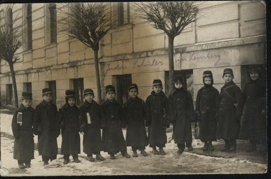 Jewish school boys in Lemberg